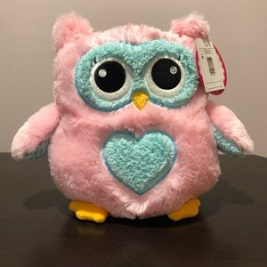 Jumbo plush OWL piggy bank